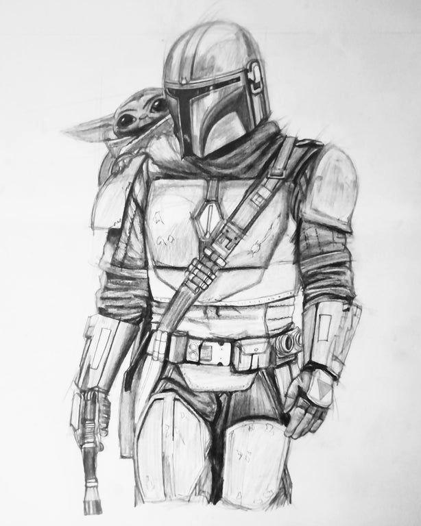Von Reddit Benutzer Arrogantselfaware Ich Zeichnete Baby Yoda Mit Ihrem Begleiter Dem M Elegant Meinmodus Com In 2020 Star Wars Zeichnungen Star Wars Fan Art Marvel Zeichnungen