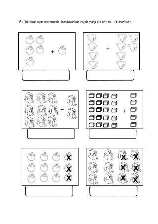 Soalan Peperiksaan Akhir Tahun Matematik Tahun 1 2015 Kertas 2 In 2020 Math Exercises Math Cute766