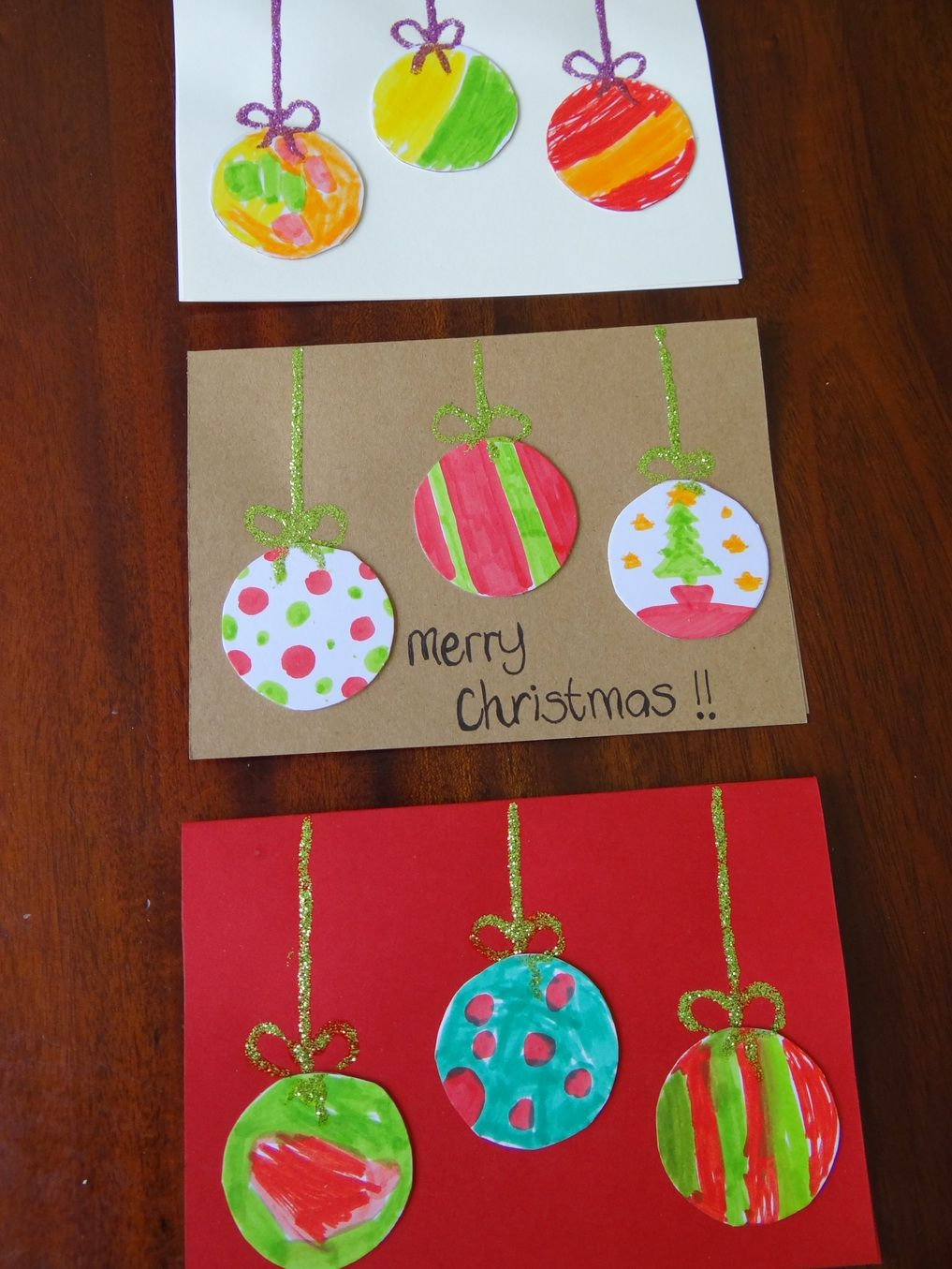 Fingerprint Christmas Cards #homemadechristmasgifts
