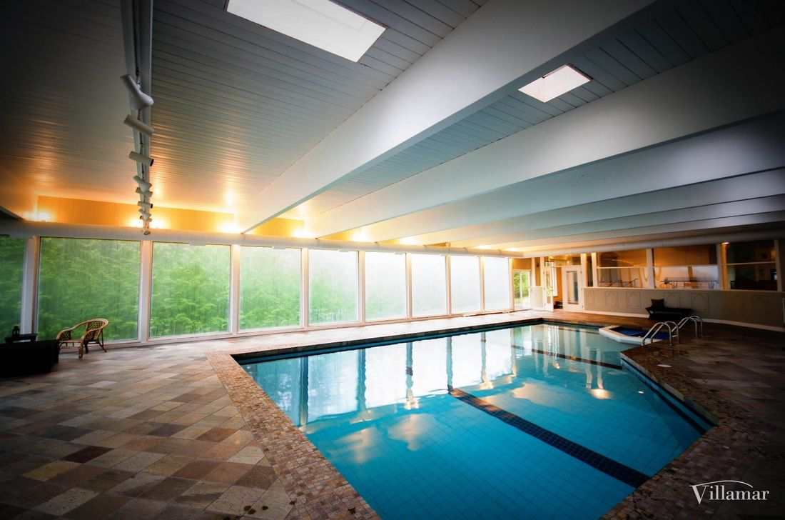 Indoor Pool Renovation High End Home Construction Villamar