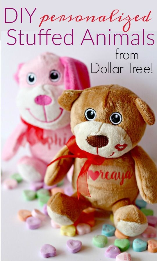 Diy Personalized Stuffed Animals Theitmom Diy Pinterest