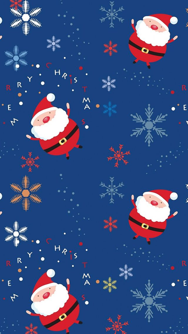 Santa Claus Pattern Iphone 5s Wallpaper Download Iphone