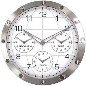 Walmart Geneva Decor Clocks 13 7 Metal Wall Clock Metal Wall Clock Wall Clock Oversized Wall Clock
