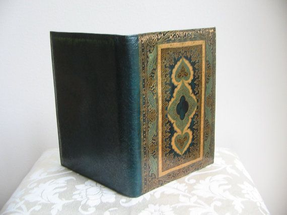 d22ab0e880 Vintage Italian Leather Florentine Journal Book Cover Portfolio ...