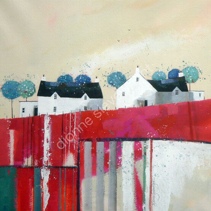 Summer Reds #house #painting #art
