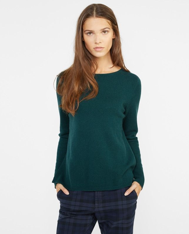e5a473302eac Pull 80% Laine 20% Cachemire VACOBS - Couleur PINE TREE