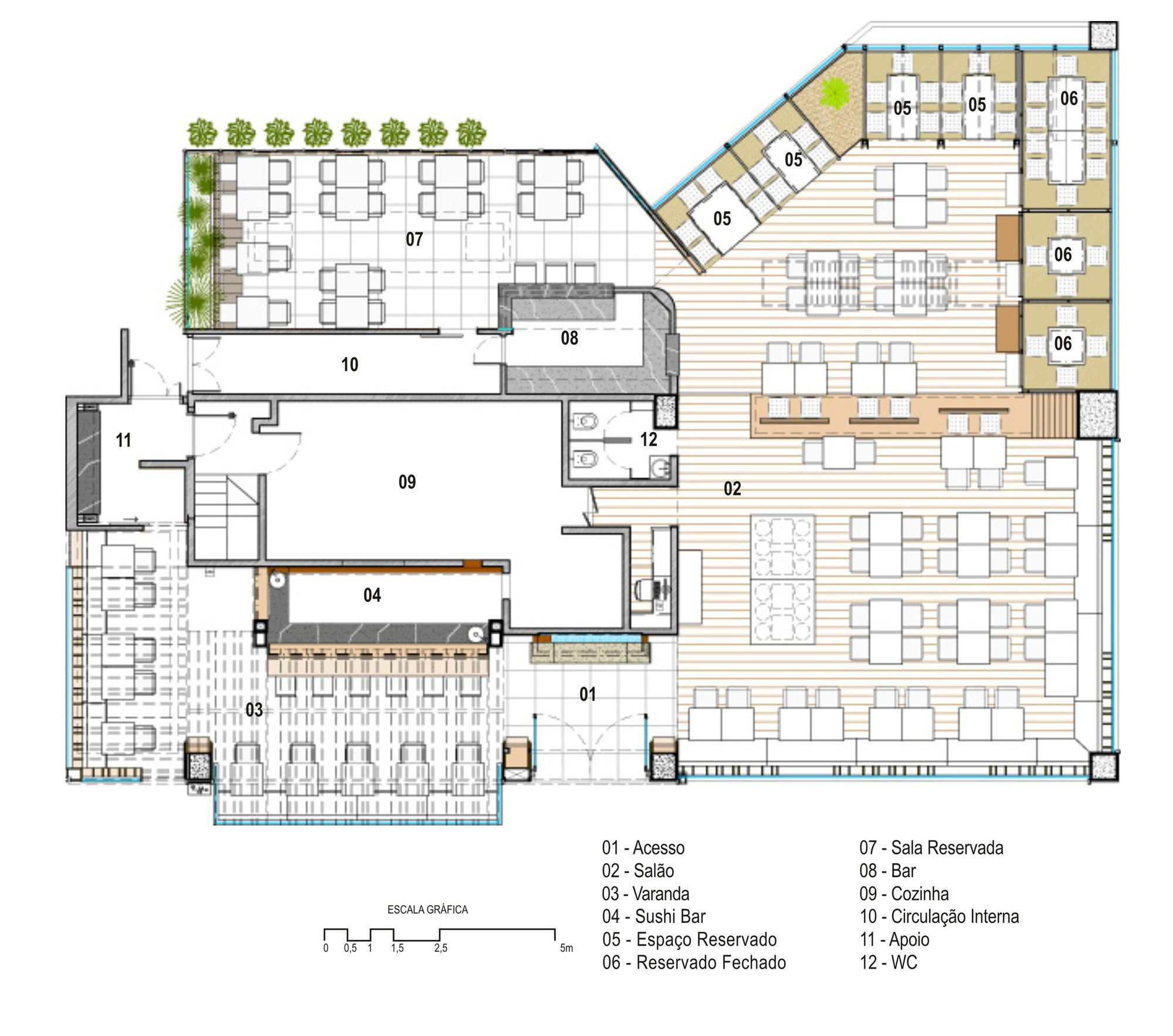 Galeria de restaurante kotobuki ivan rezende arquitetura for Cafeteria escolar proyecto