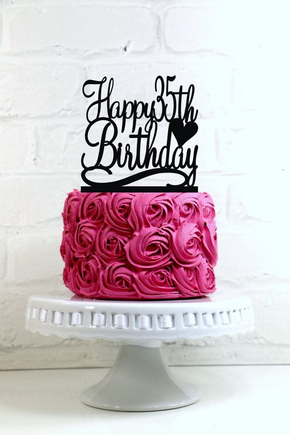 Happy 35th Birthday Cake Topper Or Sign 35 18th