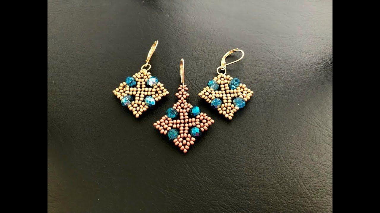 Diy Beaded Earrings With Images Beaded Earrings Tutorials