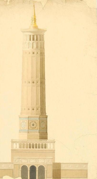 Proposal for a a new cathedral in Berlin, Carl von Diebitsch c. 1844
