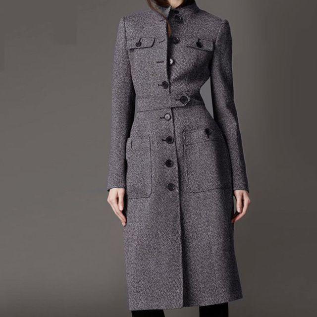 f58e131412 Laine manteau femmes manteau femme sexy manteaux d'hiver cachemire laine  cheville longueur manteaux tranchée de laine femmes long manteau