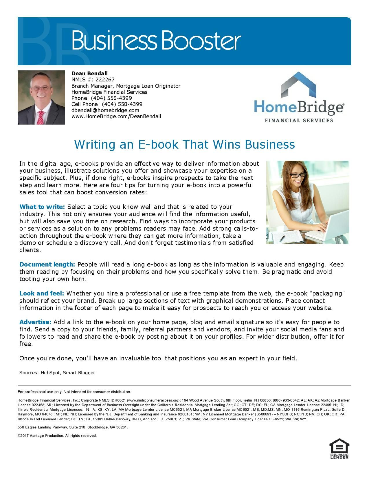 How To Write An EBook That Wins Business Dean Bendall Mortgage