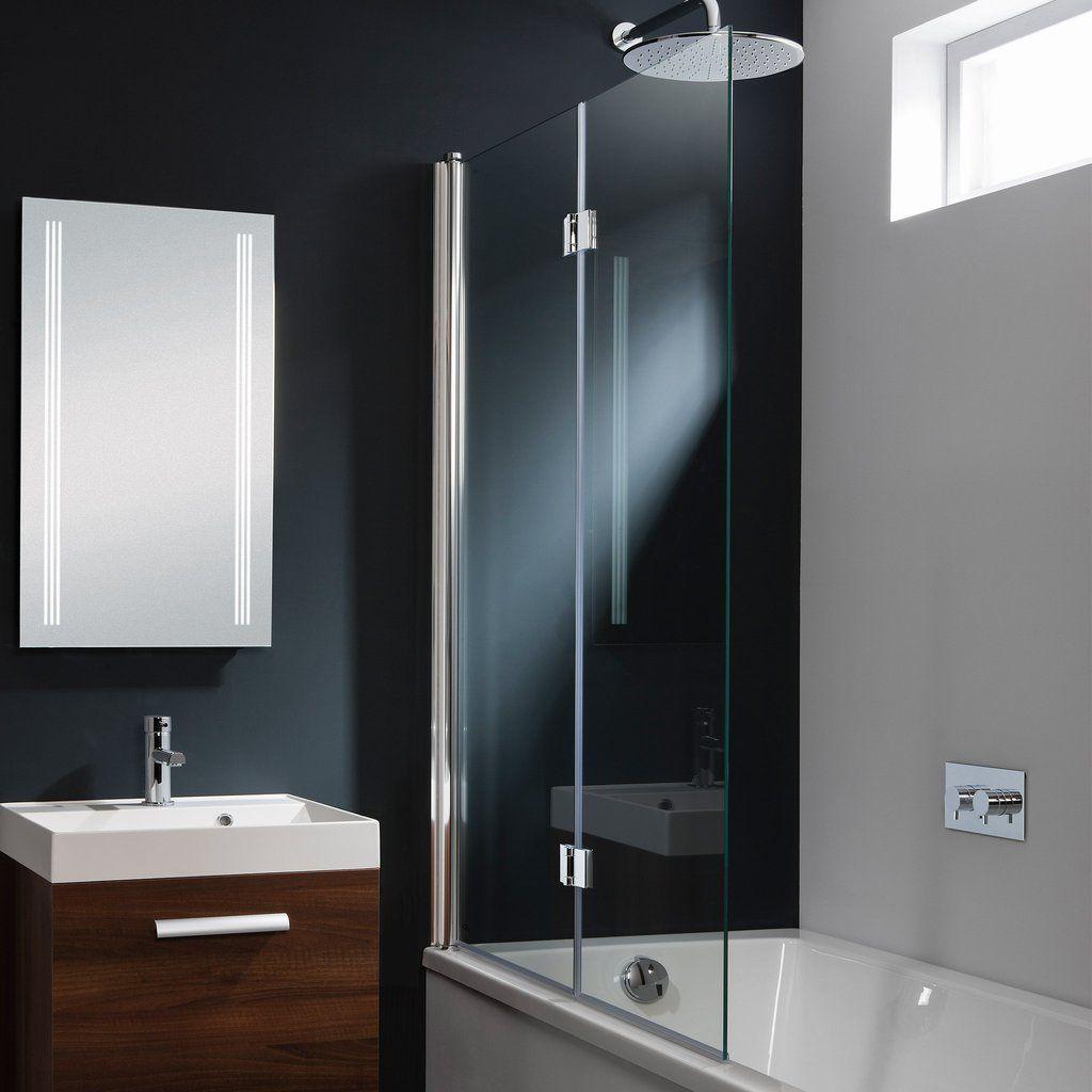 Crosswater design double folding bath screen bath