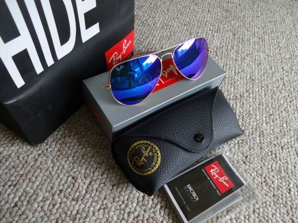 Authentic Ray Ban Aviator 3025 Blue 58mm
