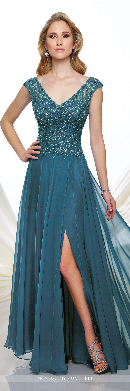 Chiffon A-line Dress - Montage by Mon Cheri 216973 | Bodice, Fall ...