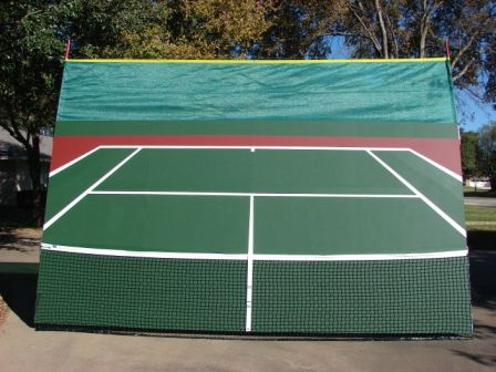 Pin By Shannon Norwood On Outdoor Games Tennis Court Backyard Tennis Court Tennis