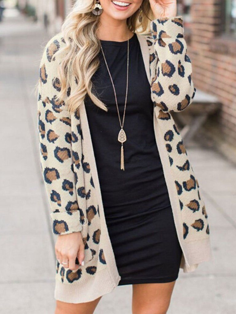 Leopard and comfortable cardigan
