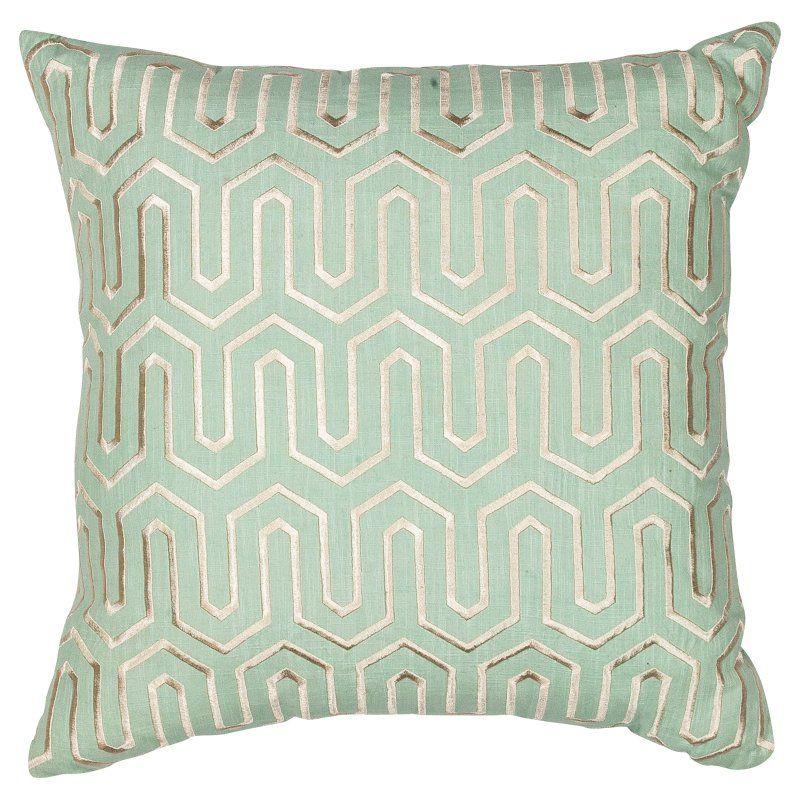 KAS Rugs Seafoam Geo Decorative Pillow Seafoam - PILL20018SQ