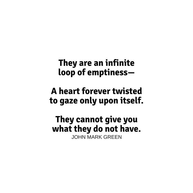They are an infinite loop of emptiness... quote about