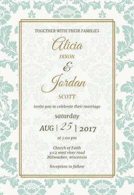 Rustic Frame Printable Wedding Invitation Template Wedding
