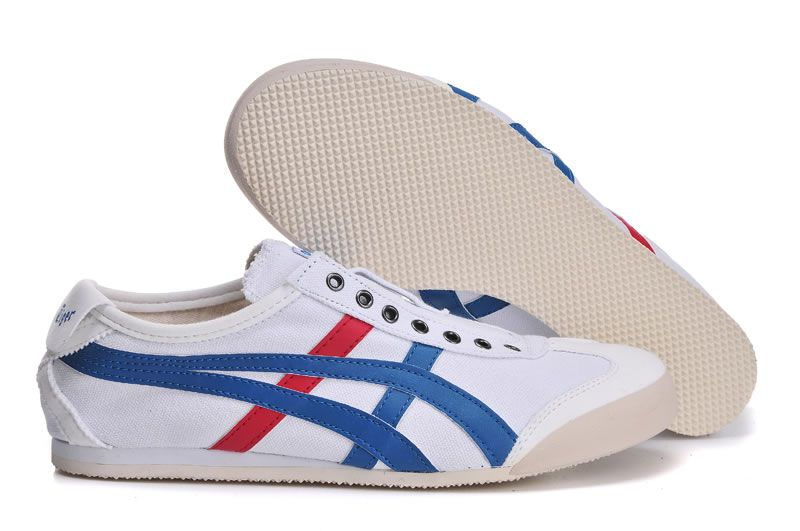 info for e0c85 5c0c3 Onitsuka Tiger Mexico 66 Slip On CV White Blue Red [TH1B2N ...
