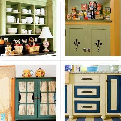 Low Cost Kitchen Cabinet Makeovers - Easy Kitchen Cabinet Makeover