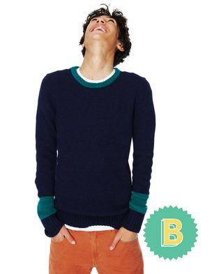 B #bodenbacktoschool Colour Block Jumper 81154 Jumpers at Boden