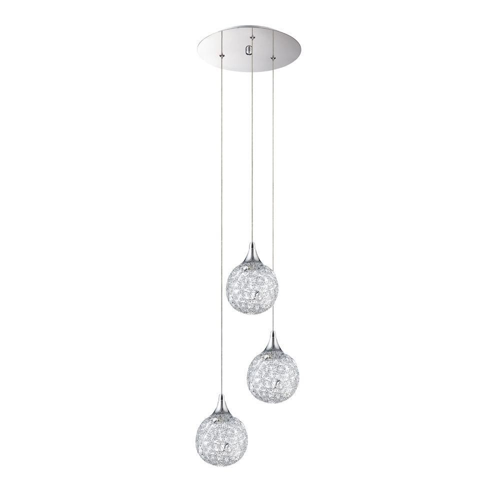 Designers choice collection solaro series light chrome pendant
