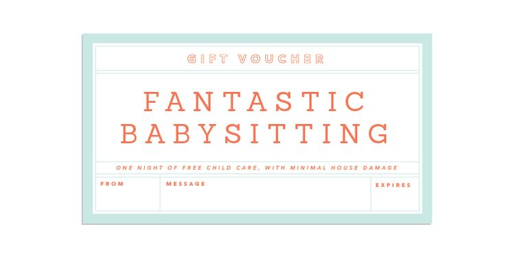 July Birthday Gift Vouchers Mother Gifts Babysitting Coupons Make It