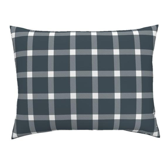 Gingham Pillow Sham Buffalo Check Gingham Navy Blue By Acdesign Rustic Plaid Navy Cotton Sateen Pillow Sham Bedding By Spoonflower Pillow Shams Pillows Sham Bedding