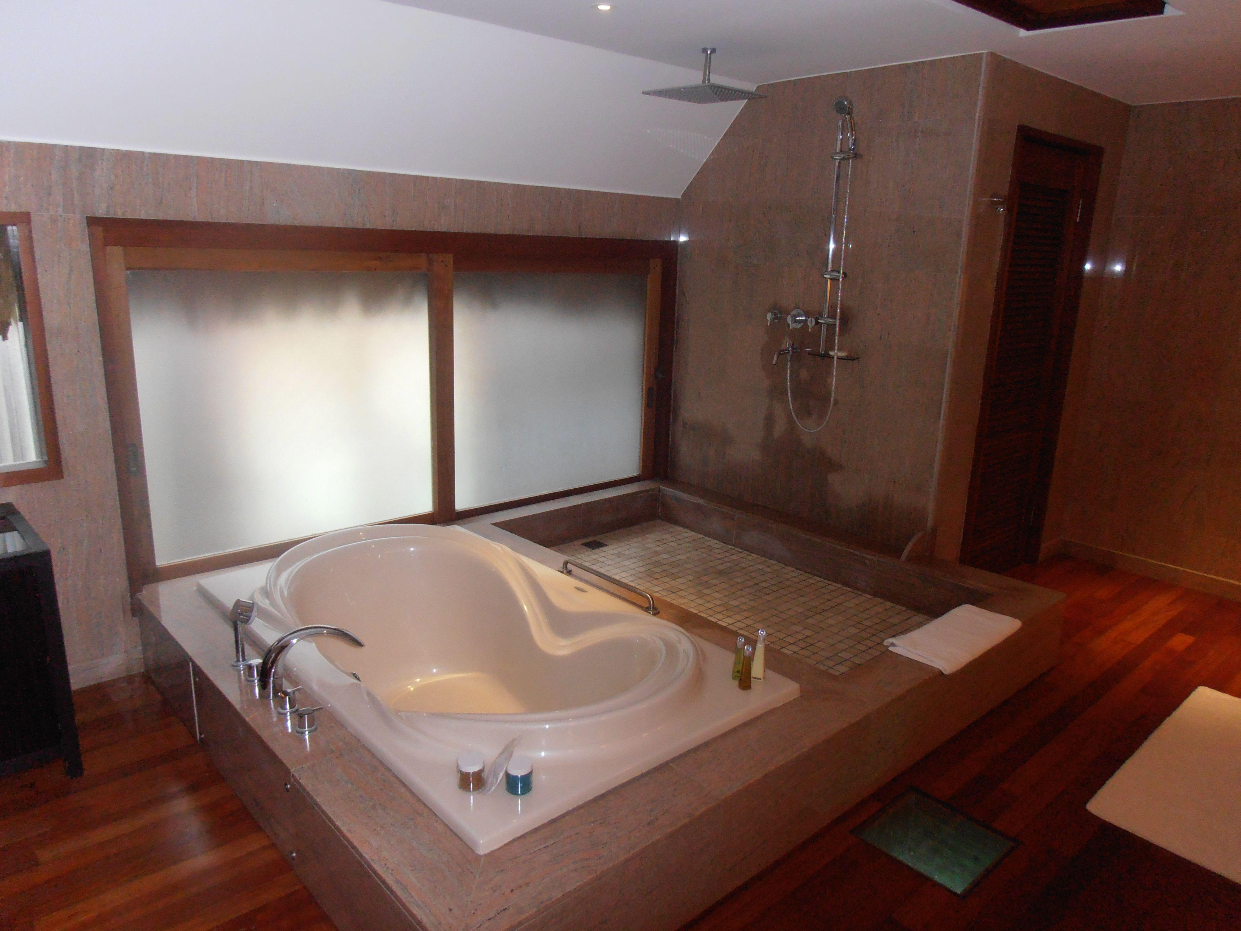 Bathroom In Overwater Bungalow At St Regis Bora Bora