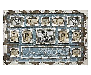 Pannello porta foto con pomelli appendiabiti - 125x82 cm