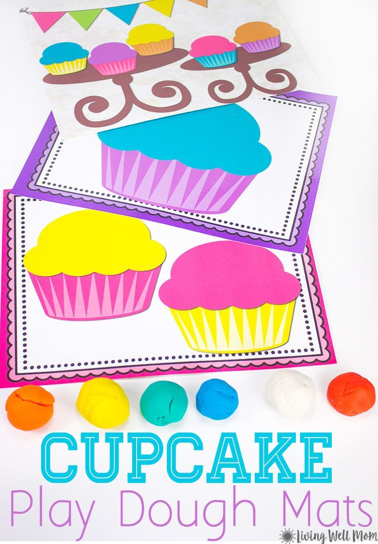 image about Free Printable Playdough Mats identify Cupcake Playdough Mats - Absolutely free Printable Game for Youngsters