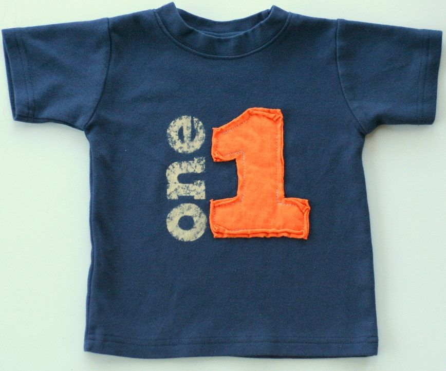 Toddler Birthday shirt, Layered Applique Number, (No Ink