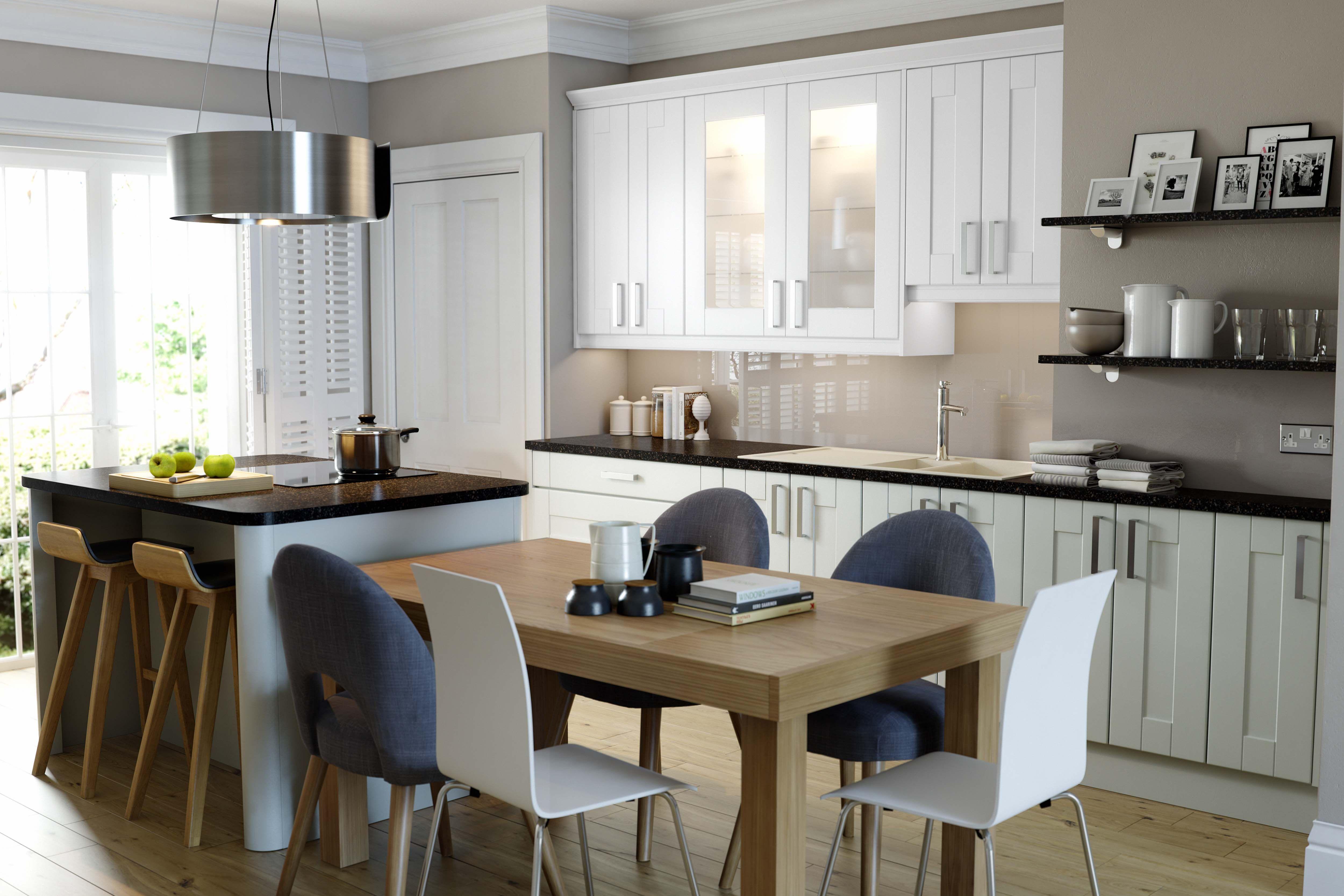 Wren Kitchens Shaker Ermine French Partridge New for