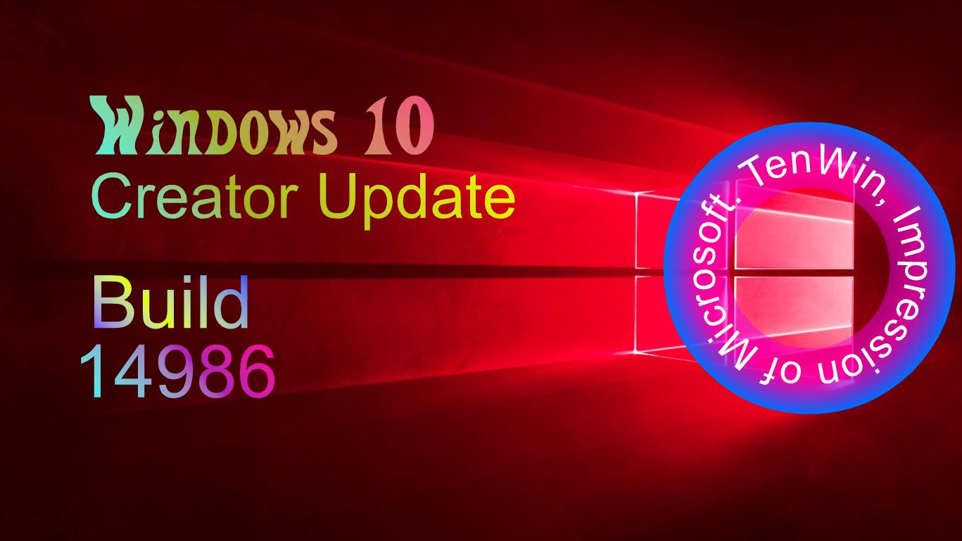 Windows 10 Build 14986 Windows 10, Settings app, Photo apps