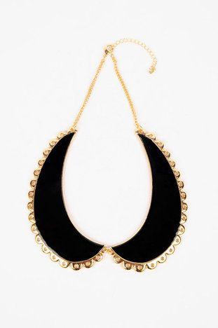 145cb9fa4edc5e Betsy Collared Necklace in Black  23 at www.tobi.com
