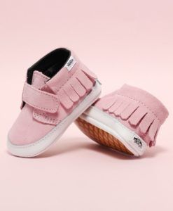 5e236cadf06 Vans | Chukka V Mocc in Pink Mist | Baby Girl How sweet will she look in  these suede baby Vans in Pink Mist?