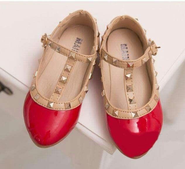Sepatu Pesta Anak Perempuan Valentino Merah Size 24 Rp 105 000