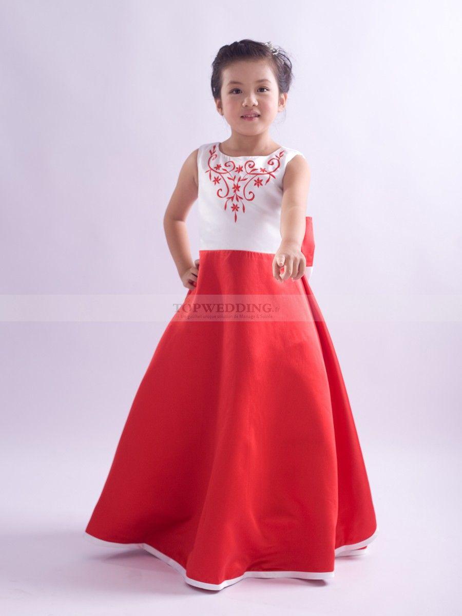 Robe de ceremonie rouge fille