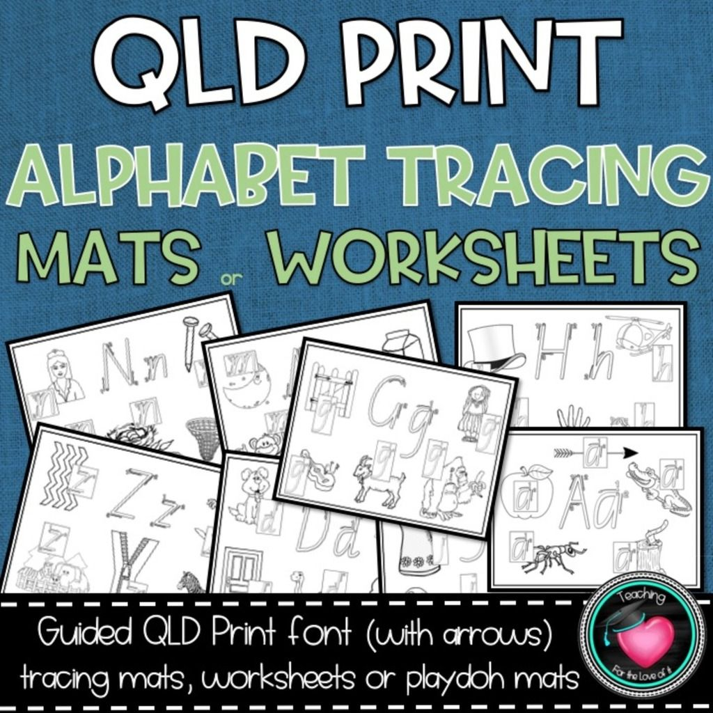 Qld Beginners Font Handwriting Practice Tracing Mats
