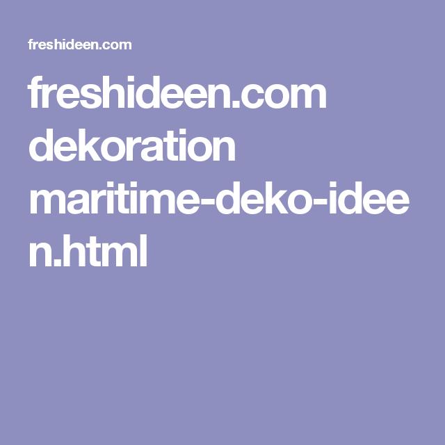 freshideen.com dekoration maritime-deko-ideen.html