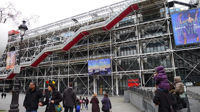 The Centre Pompidou, always a party out front.