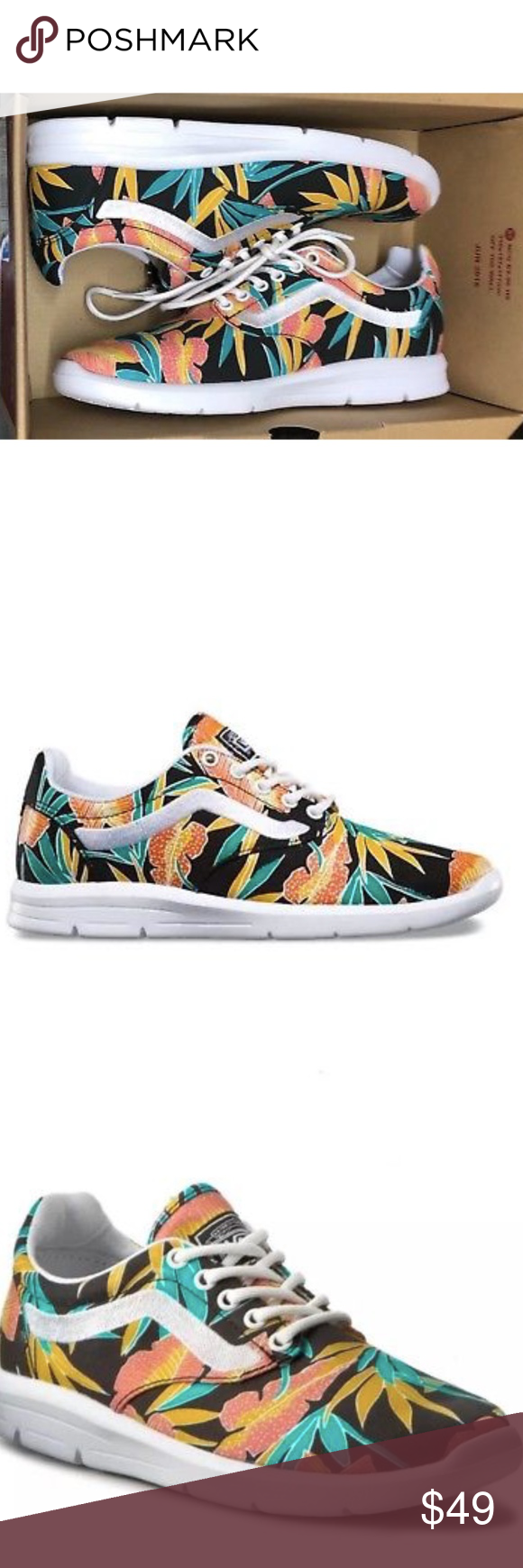 e7f071231b Vans Iso 1.5 Tropical Leaves Black True White Shoe Vans Iso 1.5 Tropical  Leaves Black True