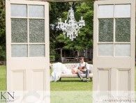 Wedding ceremony doors with couch as on beach for photos?