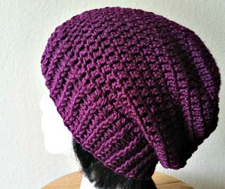 75ab6a6bf72 Long Ribbed Slouchy - free crochet pattern by Acquanetta Ferguson. Aran  weight. Love it