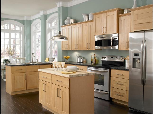 Maple Cabinets Silver Hardware Maple Kitchen Cabinets Kitchen Layout Painted Kitchen Cabinets Colors