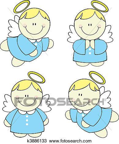 b71d8e757 Baby angels set Clipart | Bautizo | Steine bemalen, Steinmalerei y ...