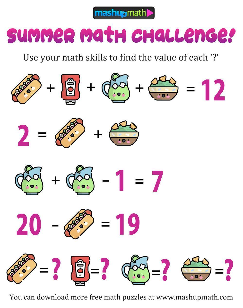 Maths Puzzles Math Brainteasers Math Logic Puzzles [ 1263 x 1000 Pixel ]