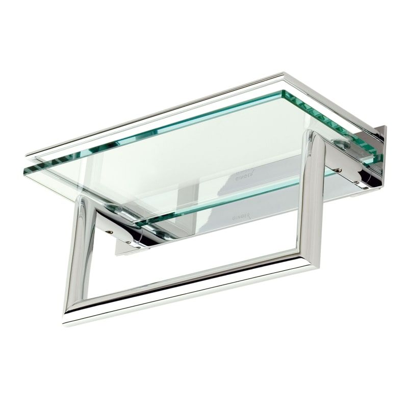 Ginger 2819rt 12 Bathroom Shelves Polished Chrome Bathroom Storage